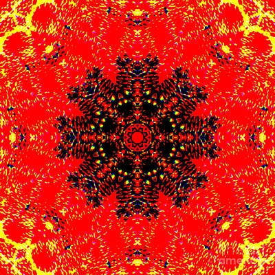 Design Photograph - Abstract Polyp Mandala by Marv Vandehey