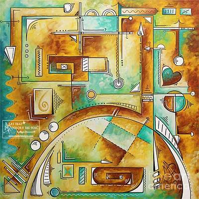 Painting - Abstract Pop Art Unique Symbolism Style Original Oversized Painting By Megan Duncanson Illusionary by Megan Duncanson