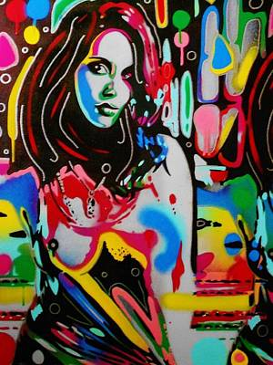 Pop Art Painting - Abstract Pop by Leon Keay