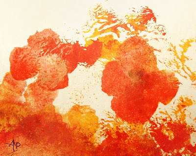 Poppies Field Painting - Abstract Poppies by Angeles M Pomata