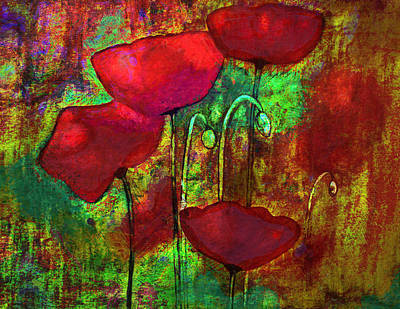 Painting - Abstract Poppies by Julie Lueders