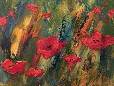 Painting - Abstract Poppies by Kristine Bogdanovich