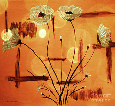 Painting - Abstract Poppies Series C42016 by Mas Art Studio