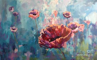 Painting - Abstract Poppy by Kathy Laughlin
