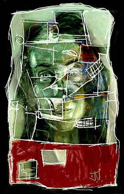 Painting - Abstract Portrait 10may2016 by Jim Vance