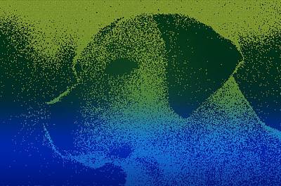 Dog Abstract Art Painting - Abstract Portrait Of A Dog by Celestial Images