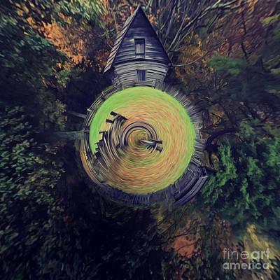 Abstract Puckett Cabin Art Print