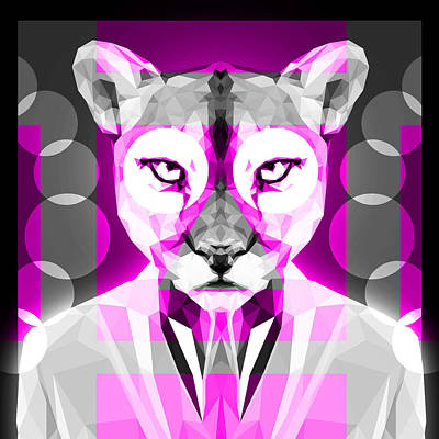 Tuxedo Cat Digital Art - Abstract Puma 1 by Gallini Design