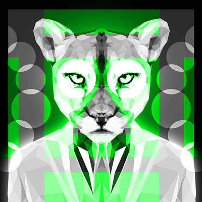Tuxedo Cat Digital Art - Abstract Puma 2 by Gallini Design