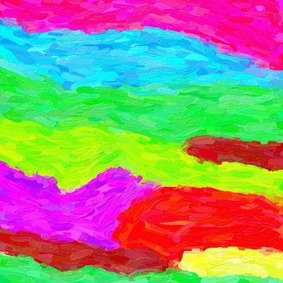 Royalty-Free and Rights-Managed Images - Abstract Rainbow Art by Adam Asar 3 by Adam Asar