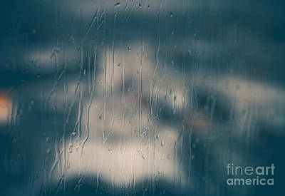 Photograph - Abstract Rainy Window Background by Anna Om