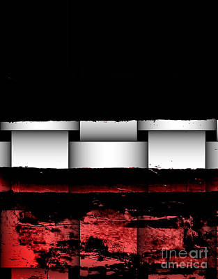 Abstract Red And Black Ll Art Print by Marsha Heiken