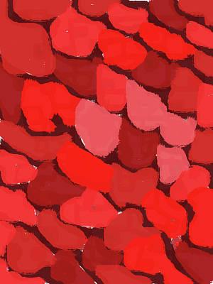 Digital Art - Abstract Red Blotches by Keshava Shukla