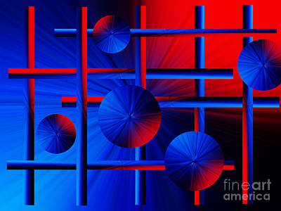 Photograph - Abstract Red/blue 2 by Trena Mara