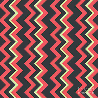 Santa Monica Digital Art - Abstract Red, Dark Gray And Green Pattern For Home Decoration by Pablo Franchi