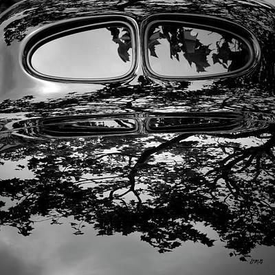 Photograph - Abstract Reflection Bw Sq II - Vehicle by David Gordon