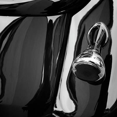 Photograph - Abstract Reflection Bw Sq - Vehicle by David Gordon