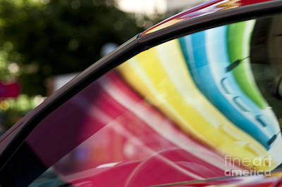 Photograph - Abstract Reflection On Car Windshield by Jim Corwin