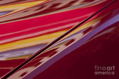 Photograph - Abstract Reflections On Car Hood by Jim Corwin