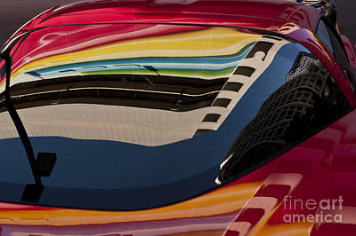 Photograph - Abstract Reflections On Car Windshield by Jim Corwin