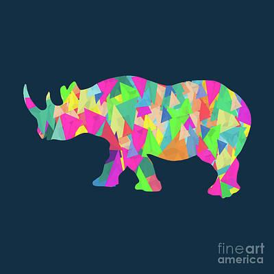 Abstract Realism Digital Art - Abstract Rhino by Amir Faysal