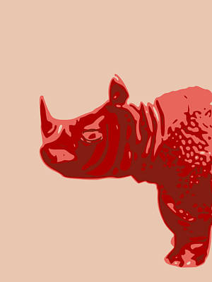 Digital Art - Abstract Rhino Contours Glaze by Keshava Shukla