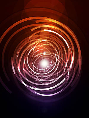 Futuristic Digital Art - Abstract Rings by Michael Tompsett