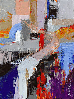 Painting - Abstract Roadblocks by Judith Barath