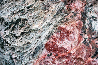 Photograph - Abstract Rock Marbled Marvel by Christina Rollo