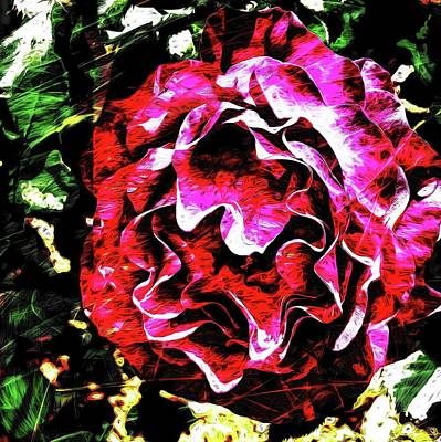 Photograph - Abstract Rose 47 by Kristalin Davis