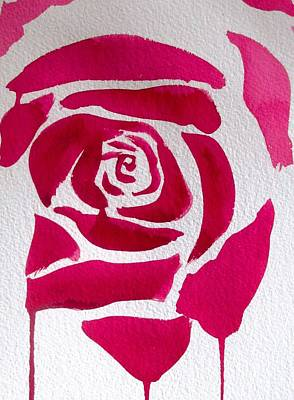 Painting - Abstract Rose by Sacha Grossel