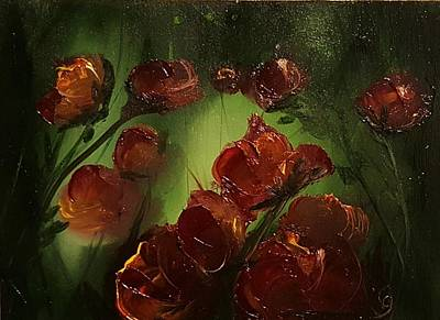 Painting - Abstract Roses by Cheryl Nancy Ann Gordon