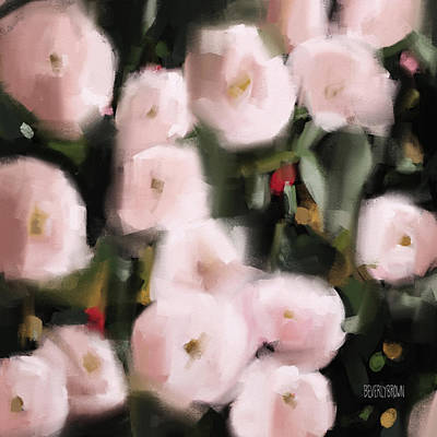 Painting - Abstract Roses Peach And Light Pink by Beverly Brown Prints