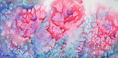 Abstract Roses Art Print