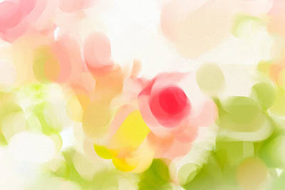Abstract Digital Photograph - Abstract Roses by Tom Gowanlock