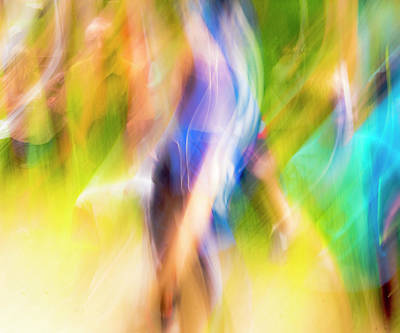 Abstract Running Art Print by Steven Ralser