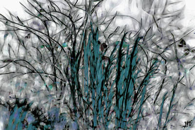 Photograph - Abstract Saw Grass And Wildflowers by Gina O'Brien