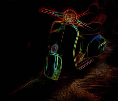 Photograph - Abstract Scooter by Elijah Knight