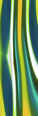 Digital Art - Abstract Sea Tide Panoramic Vertical by Amy Vangsgard