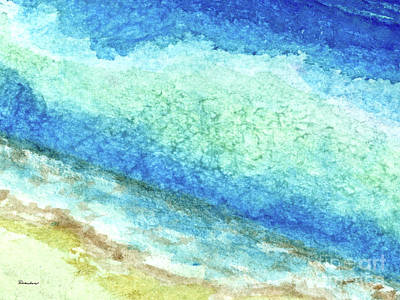 Painting - Abstract Seascape Beach Painting A1 by Ricardos Creations