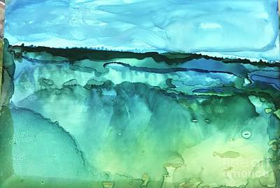 Painting - Abstract Seascape by Deborah Miller