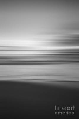 Lake Life - Abstract Seascape Sunrise Portrait BW by Michael Ver Sprill
