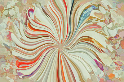 Photograph - Abstract Seashells Watercolor by Aimee L Maher Photography and Art Visit ALMGallerydotcom