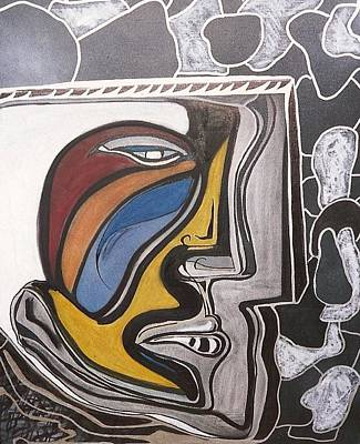 Abstract Self Portrait 1988 Art Print by Jimmy King
