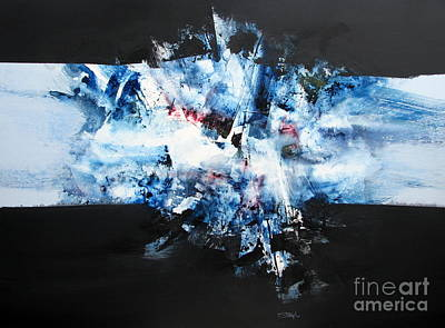 Prussian Blue Painting - Abstract Series #103 by Jerry Stangl
