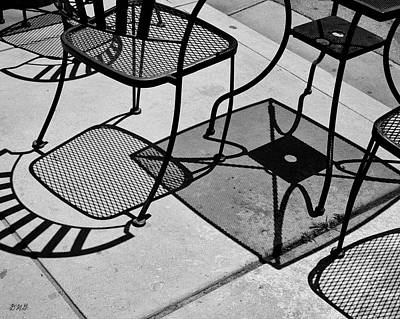Photograph - Abstract Shadows II Bw by David Gordon