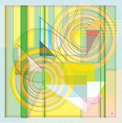 Digital Art - Abstract Shapes 2 by Gary Grayson