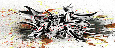 Digital Art - Abstract Shapes by Louis Ferreira