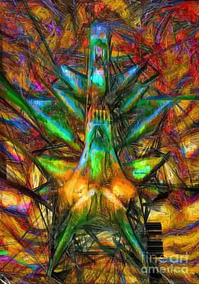 Digital Art - Abstract Sketch 1340 by Rafael Salazar