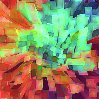 Abstract - Skyview Cityscape Art Print